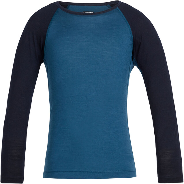 Icebreaker Kids 200 Oasis LS Crewe Shirt Prussian Blå/Midnight Navy